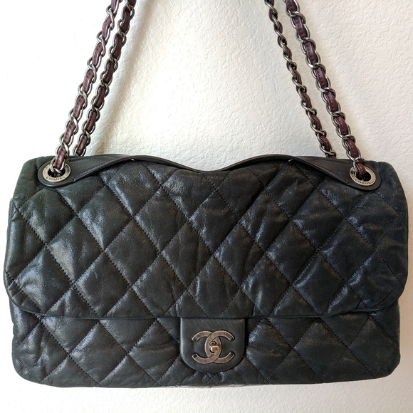 312461e3b5df CHANEL Bags | Xl Quilted Soft Flap With Handle In Black | Poshmark
